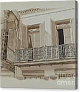 Cast Iron Balcony Rail Canvas Print