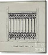 Cast Iron Balcony Railing Canvas Print