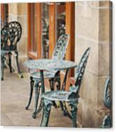 Cast Iron Garden Furniture Canvas Print