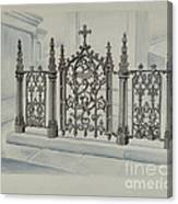 Cast Iron Gate And Fence Canvas Print