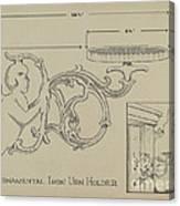 Cast Iron Urn Holder Canvas Print