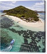Castaway Island Aerial Canvas Print