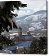 Castel Del Monte Abruzzo Italy Canvas Print