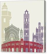 Castellon Skyline Poster Canvas Print