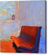 Castillo De San Marcos Bench Canvas Print