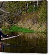 Casting For Trout Canvas Print