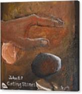 Casting Stones Canvas Print