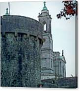 Castle And Church Athlone Ireland Canvas Print