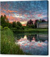 Castle And Pond Canvas Print
