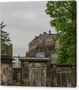 Castle Behind Cemetery Canvas Print