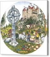 Castle Cross Circle Canvas Print