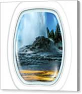 Castle Geyser Portholes Canvas Print