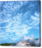 Castle Geyser Yellowstone Np Photo Painting_grk7577_05262018 Canvas Print