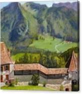 Castle Gruyere Swiss Canvas Print