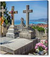 Castle Hill Graves Overlooking Nice, France Canvas Print