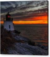 Castle Hill Lighthouse Sunset Canvas Print
