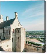 Castle In Chinon Canvas Print