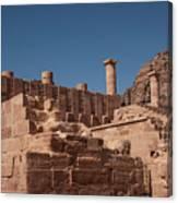 Castle In Petra Canvas Print
