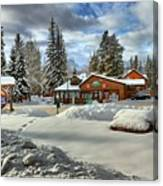 Castle Mountain Chalets Panorama Canvas Print