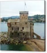 Castle Of Rapallo Canvas Print