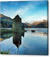 Castle On The Loch Canvas Print