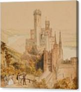 Castle On The Rhine Canvas Print