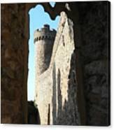 Castle Tower Thru Window Canvas Print
