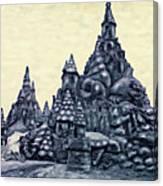Castles On The Beach Canvas Print