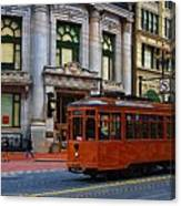 Castro Street Trolley Canvas Print