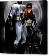 Cat And Bat Canvas Print