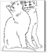 Cat-art-curious Canvas Print