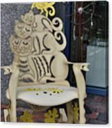 Cat Chair Canvas Print