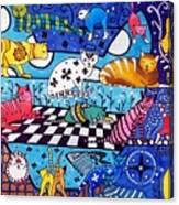 Cat Cocktail - Cat Art by Dora Hathazi Mendes Canvas Print