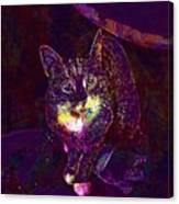 Cat Contemporary Design Brown  Canvas Print