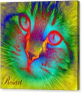 Cat Fluorescent Canvas Print