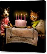 Cat - It's Our Birthday - 1914 Canvas Print