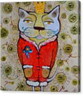 Cat-king Canvas Print