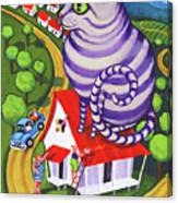 Cat On A Red Tin Roof Canvas Print
