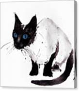 Cat Painting Canvas Print