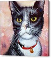 Cat Painting Cat Portrait Watercolor Cat Cat Art Cat Lover Gift Animal Portrait Watercolor Original Canvas Print