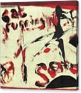 Cat Running Scared 5 Canvas Print