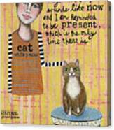 Cat Whisperer Canvas Print