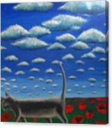 Cat Who Walks Alone Canvas Print