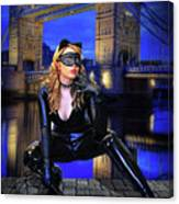 Cat Woman In London Canvas Print
