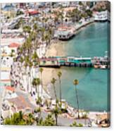Catalina Island Avalon Waterfront Aerial Photo Canvas Print