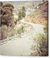 Catalina Island Mountain Road Picture Canvas Print