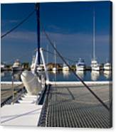 Catamaran Ready To Sail Canvas Print