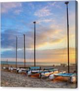 Catamarans In The Sun Canvas Print