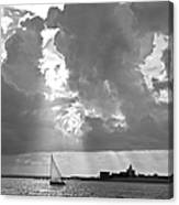 Catboat In Barnstable Harbor Canvas Print