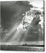 Catboats Sailing In Barnstable Harbor Canvas Print